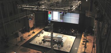 Technical work on a BCMG opera.