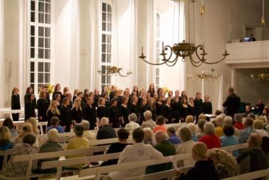 In performance during our final concert in Hernhut.