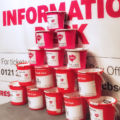 Buckets at the ready! Volunteers helped with the collections.