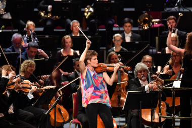 Violinist Leila Josefowicz. Credit: BBC/Chris Christodoulou.
