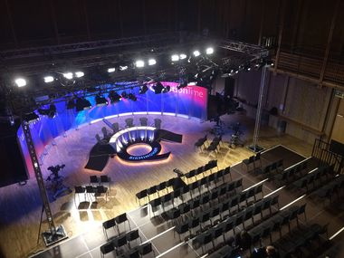 Hosting BBC Question Time, December 2015.
