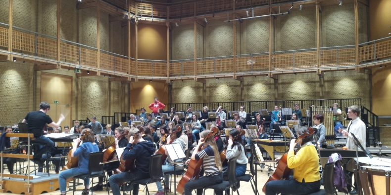 The Project Remix Orchestra in rehearsals at CBSO Centre.