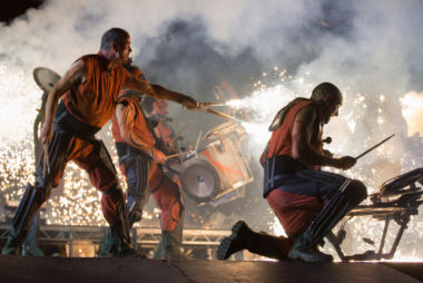 Clash of Drums - amazing sound and pyrotechnics. Credit: Andrew Fox.