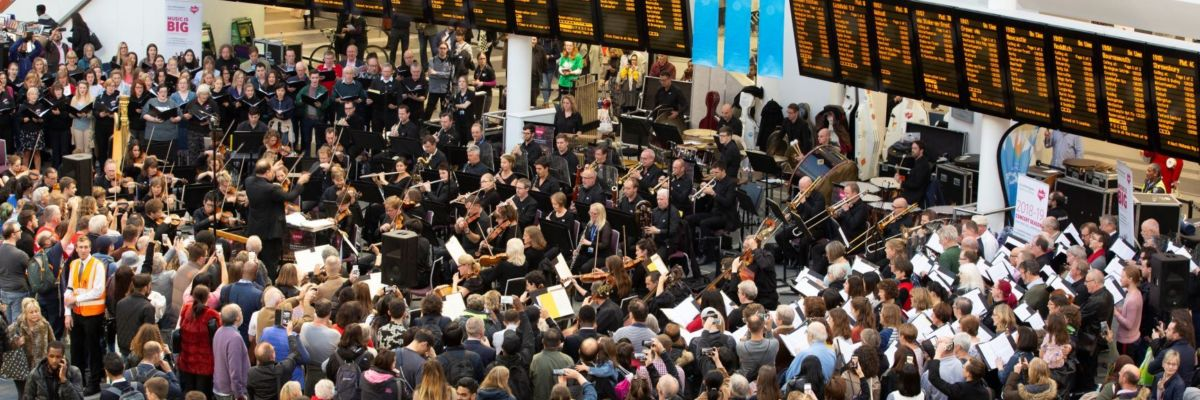 Concert At New Street Station.