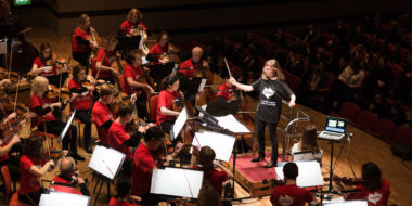Mirga conducts schools concerts for 8,000 children in 2017.