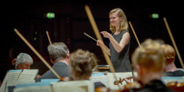 Mirga Gražinytė-Tyla conducts the CBSO at Symphony Hall. Credit: Neil Pugh.