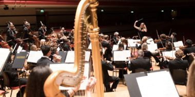 Mirga conducts at Symphony Hall.