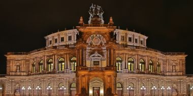 Semperoper At Night.