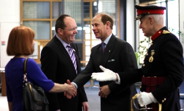 Visit from His Royal Highness Prince Edward, Earl of Wessex.