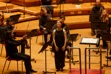 Mirga Gražinytė-Tyla and the CBSO. Credit: Andrew Fox.