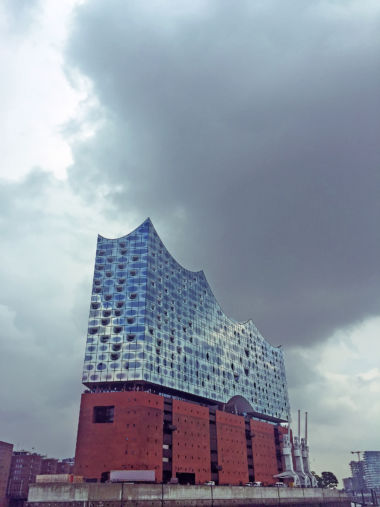 The Elbphilharmonie from the River Elbe.