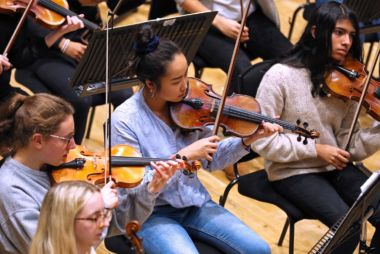 CBSO Youth Orchestra in rehearsal.