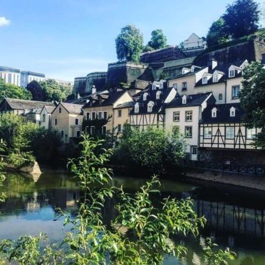 Sightseeing in Luxembourg.