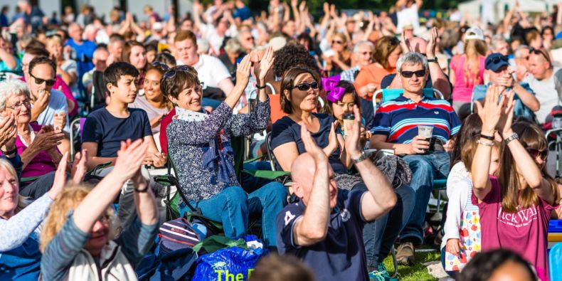 Applause in the sunshine on Saturday 1 July in Sutton Park. Credit: Aaron Scott Richards.